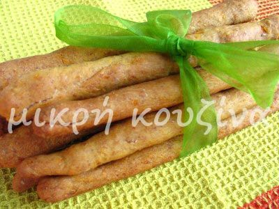 μικρή κουζίνα: Κριτσίνια ολικής αλέσεως με καρότο