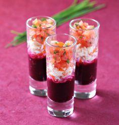 Verrines surimi, tomate et betterave - Ôdélices : Recettes de cuisine faciles et originales !