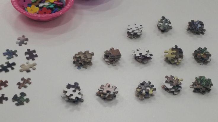 Magnitude Puzzle Pieces Game -Example of organised puzzle pieces