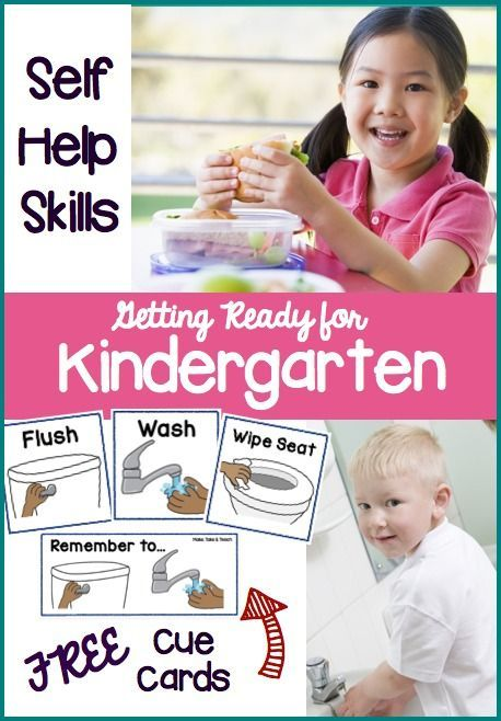 Getting Ready for Kindergarten! Ideas for promoting self help skills. Free printables!