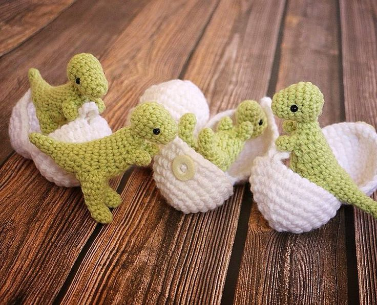 Baby T-Rexes in eggshells are a perfect Easter basket gift! Available in my…