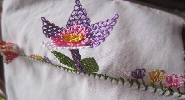 İğne Oyası Çiçek Yapılışı - Moda Yeni