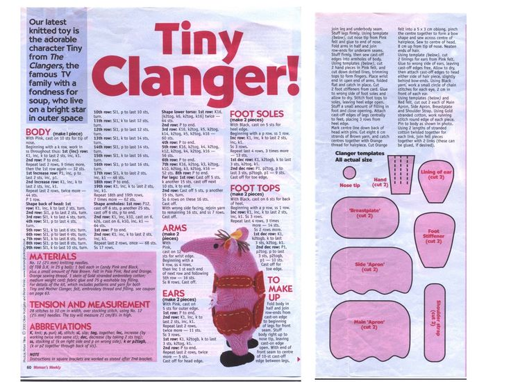Knitting Pattern For Clangers : knitting the clangers - Google Search KNITTING PATTERNS Pinterest Creat...