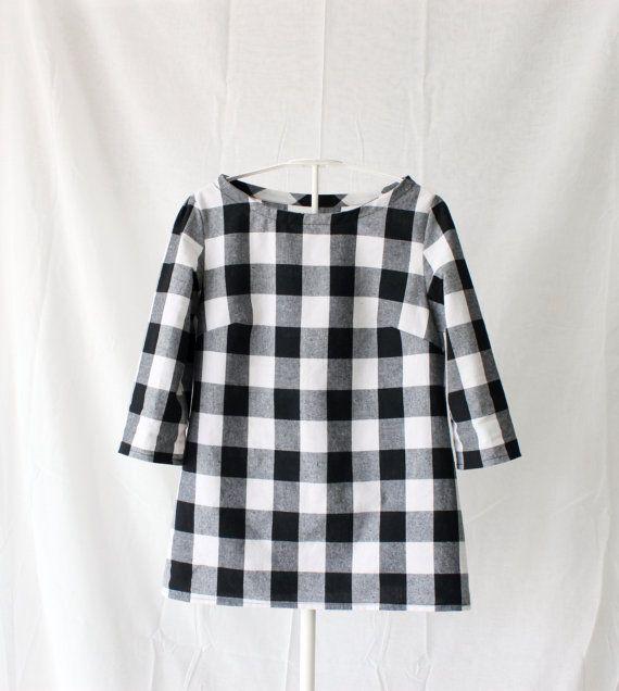 checkers black and white women's shirt.