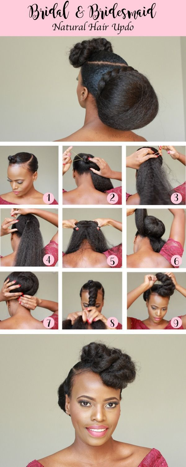 Bridesmaid Natural Hairstyles Updo For The Entire Wedding Party Natural Hair Updo Natural Hair Styles Hair Styles
