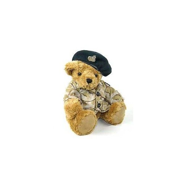 Army (Blue Beret) by The Great British Teddy Bear Company   The Great British Bear Company   teddy bears   The Great British Bear Company - Ashby Bears LE65 1AL UK featuring polyvore, women's fashion, accessories, hats, teddy bears, blue beret, army hat, blue hat, army beret and bear hat
