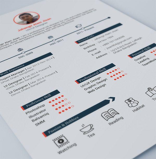 Free Resume Template by Jahangir Alam Jisan