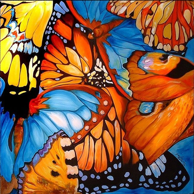 Abstract butterfly painting | Butterflies | Pinterest