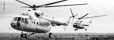 Пара Ми-8МТВ из украинского 20-го отдельного вертолетного отряда миротворческой миссии ООН в Сьерра-Леоне. Весна 2004