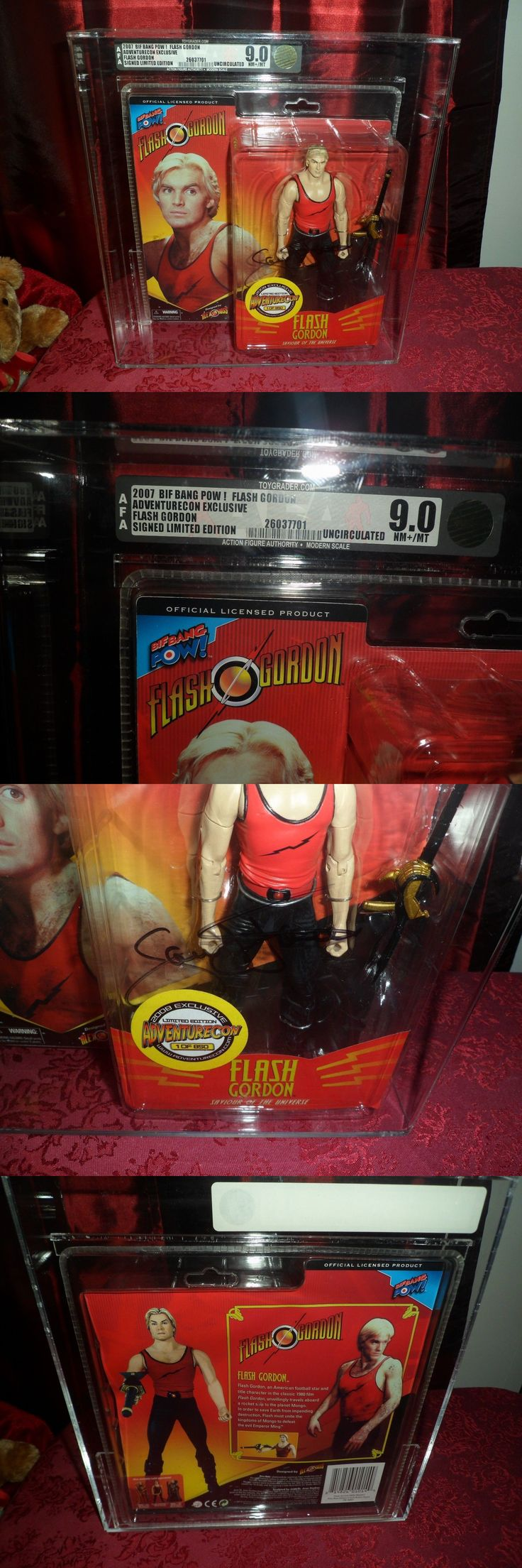 Lead Toys and Figures 152938: Flash Gordon 2007 Afa 9.0 Rare Action Figure *Autographed* By Sam J. Jones -> BUY IT NOW ONLY: $249.99 on eBay!