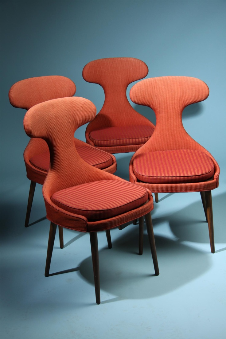 Set Of Four Chairs, Anonymous. Denmark. 1950s.