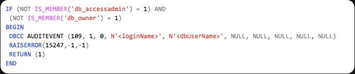 DBCC AUDITEVENT - SQL Server Undocumented T-SQL Commands