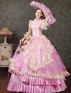 vendita steampunk®top reale rosa dell'abito di sfera del partito vittoriano wholesalelolita rococò principessa abiti da ballo