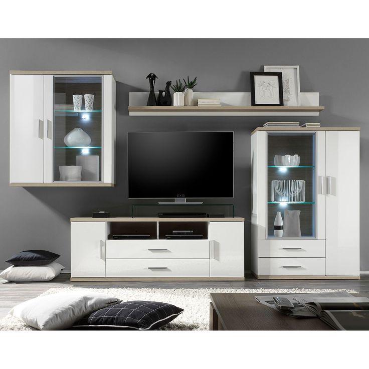 Die besten 25+ Wohnwand weiß hochglanz günstig Ideen auf Pinterest - wohnzimmer wohnwand weiß