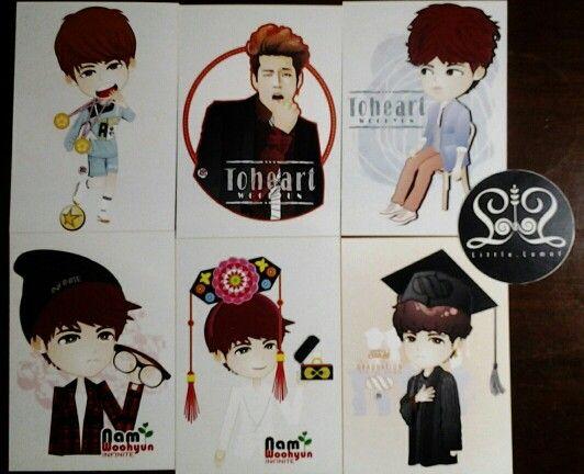 "Card collection ""Nam Woohyun"""