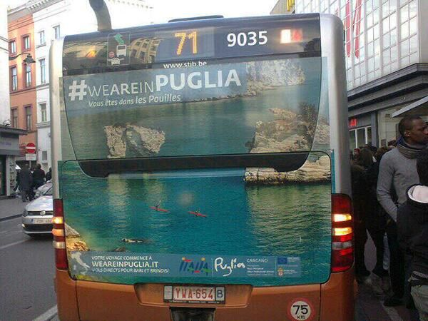 #weareinPuglia in #Brussels! Thanks @federicamiccoli :)