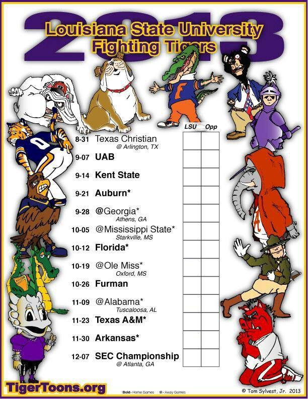 2013 LSU football schedule