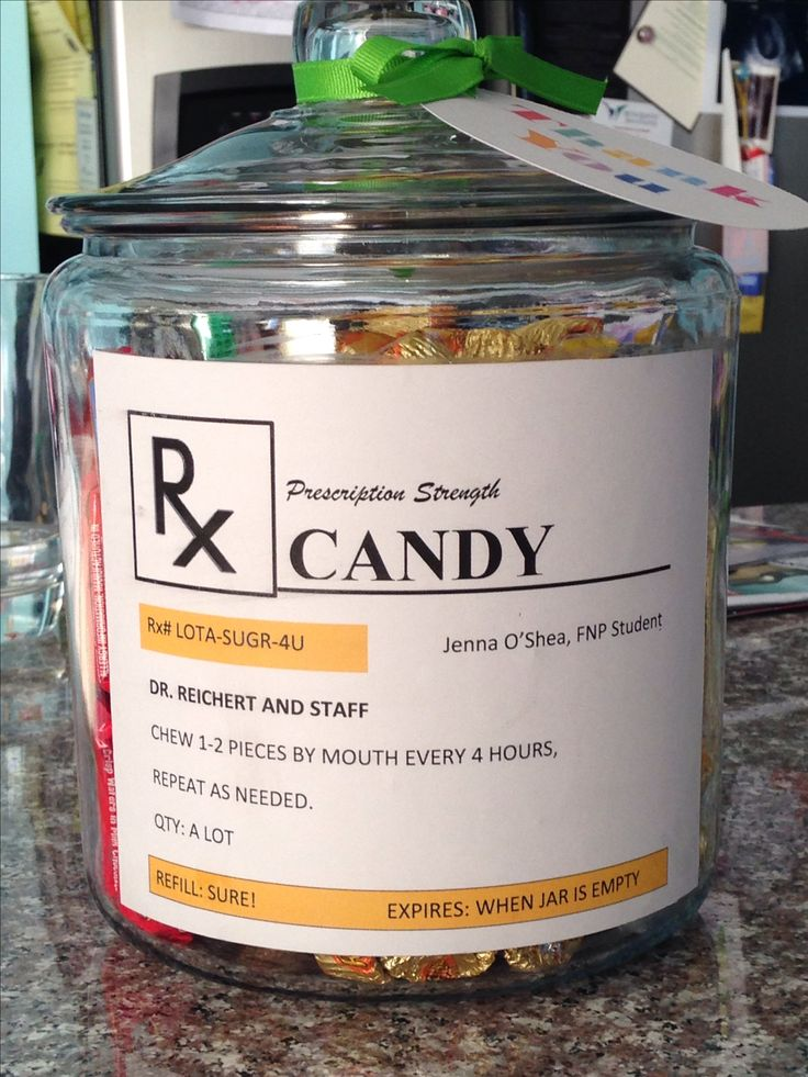 Gift for doctor or nurse, created on Microsoft word, printed on card stock, mod podge glued onto glass jar from Walmart.