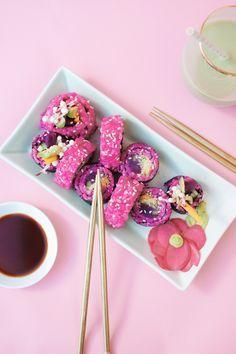 Pink Sushi with Homemade Avocado Wasabi                              …