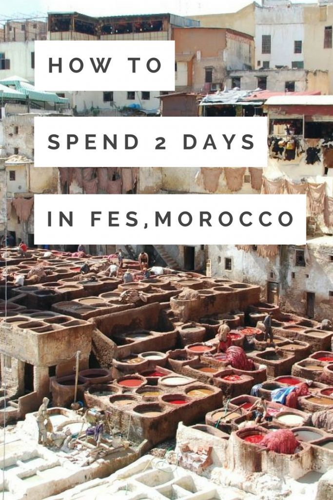 Unless you're made for big cities, 2 days in Fes is plenty. I got chased by an illegal tour guide, saw an old man pull out a knife on a child and teenagers dangling someone head first off a story high ledge. Yeah, it's a pretty crazy city... BUT not everything was bad. There are loads of interesting things to do in Fes. Read more on how to make the most of 2 days in Fes, Morocco. Travel in Africa.