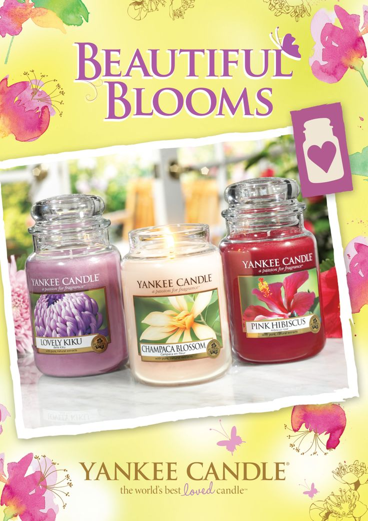 Känn vårkänslorna spira med nya blommiga dofter från Yankee Candle.  #yankeecandle #beautifulblooms #pinkhibiscus #lovelykiku #champacablossom    Läs mer på http://www.yankeecandle.se/NewsView.aspx?SiteArticleID=63