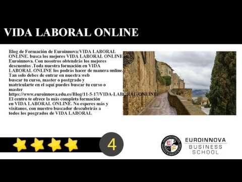 VIDA LABORAL ONLINE - Blog de Formación de Euroinnova:    VIDA LABORAL ONLINE. busca los mejores VIDA LABORAL ONLINE en Euroinnova. Con nosotros obtendrás los mejores descuentos .Toda nuestra formación en VIDA LABORAL ONLINE los podrás hacer de manera online.     Tan solo debes de entrar en nuestra web buscar tu curso master o postgrado y matricularte en el aquí puedes buscar tu curso o master https://www.euroinnova.edu.es/Blog/11-5-17/VIDA-LABORAL-ONLINE.     El centro te ofrece la más…