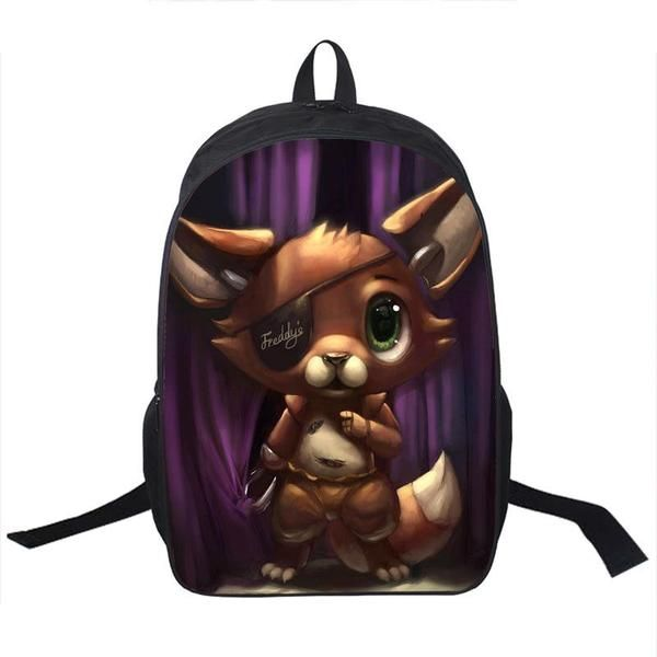 UK Five Nights At Freddy/'s FNAF Backpack Chica Bonnie Rucksack Laptop School Bag