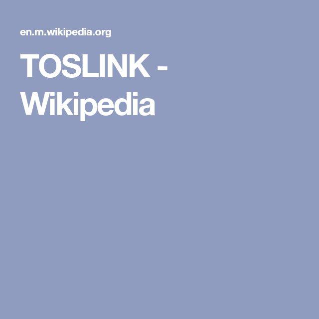 TOSLINK - Wikipedia