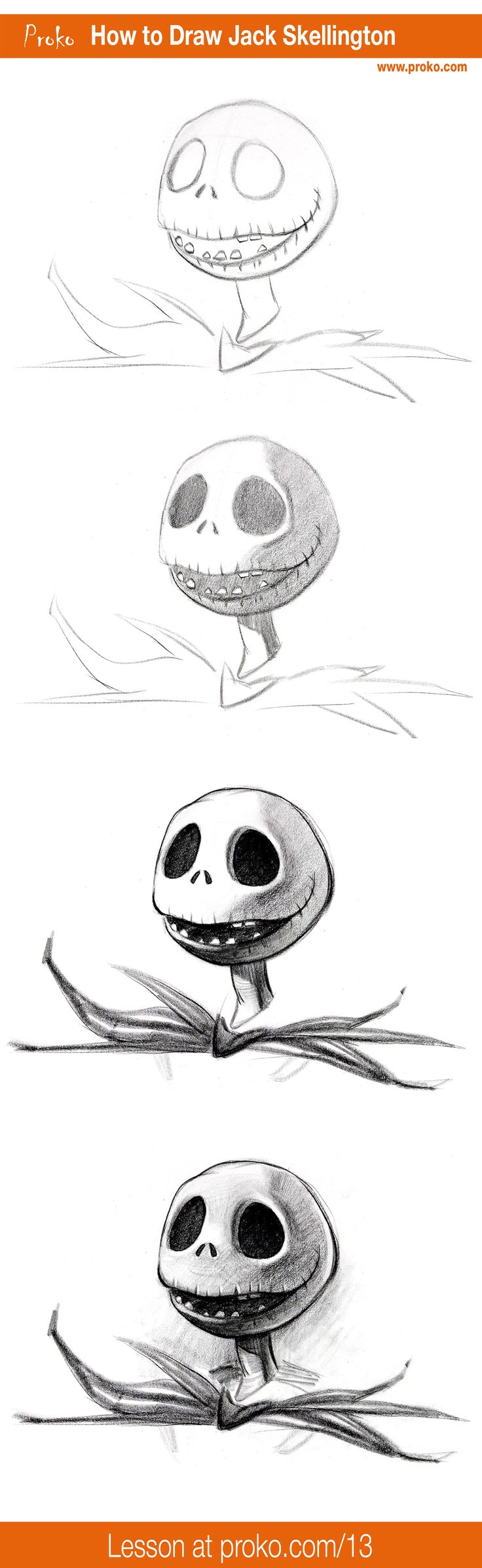 "Get in the Halloween spirit as I show you how to draw Jack Skellington from ""The Nightmare Before Christmas"" by Tim Burton."