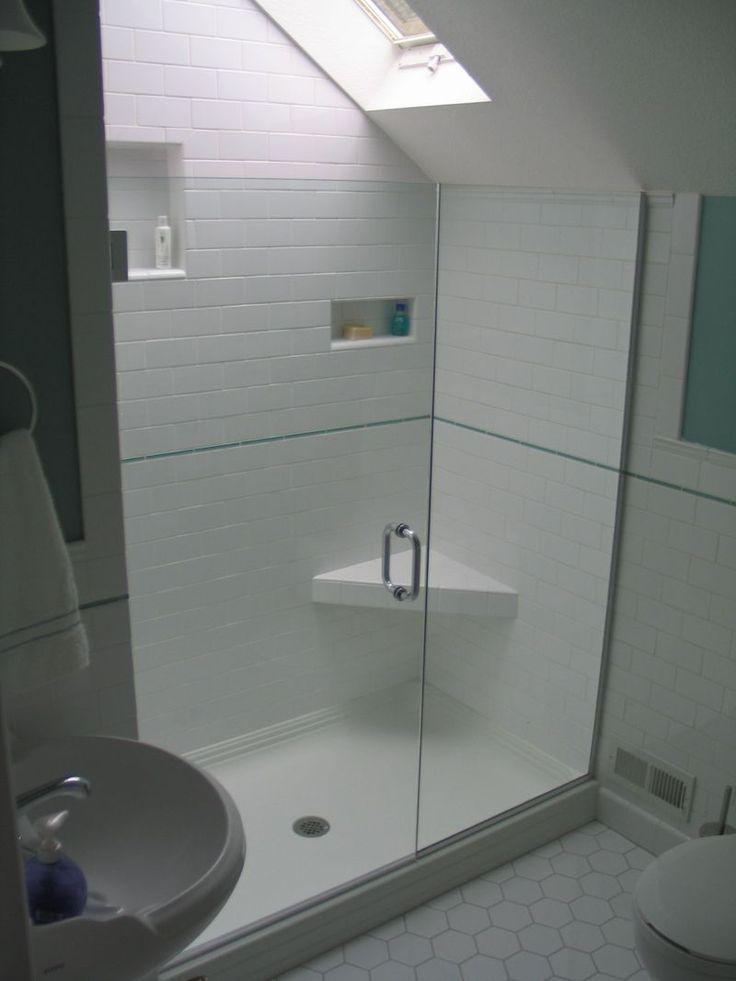 Best 25 sloped ceiling bathroom ideas on pinterest for Second bathroom ideas