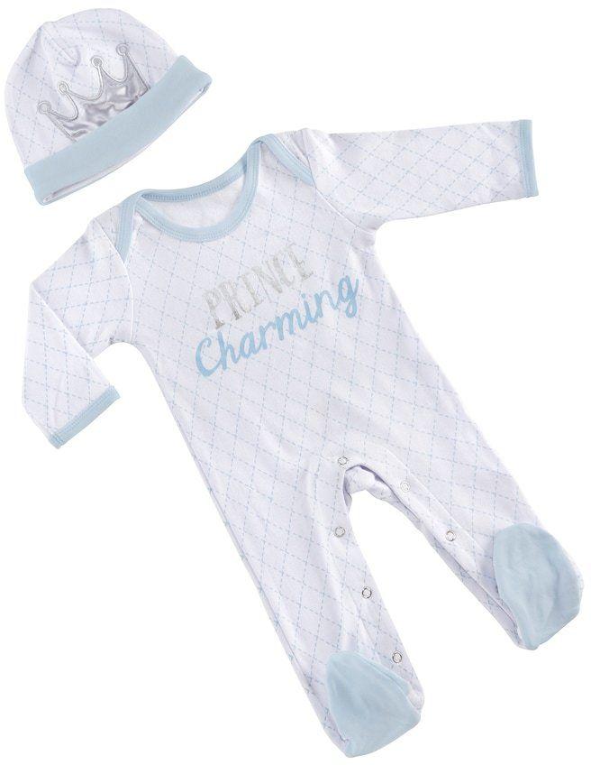 Baby Aspen Little Prince Pajama Gift Set #ad #baby #babyboy #littleprince #boy #boymom #babyclothes #babyclothing #pajamas