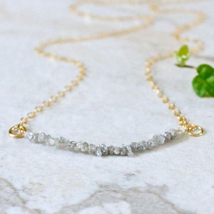 14金 原石ダイヤモンドのネックレス
