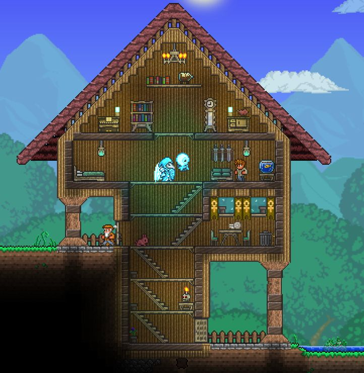 42 Best Terraria House Ideas To Build Images On Pinterest