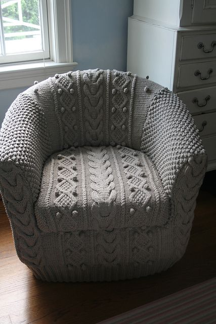 Ravelry: Project Gallery for Aran Armchair Cover pattern by Erika Knight