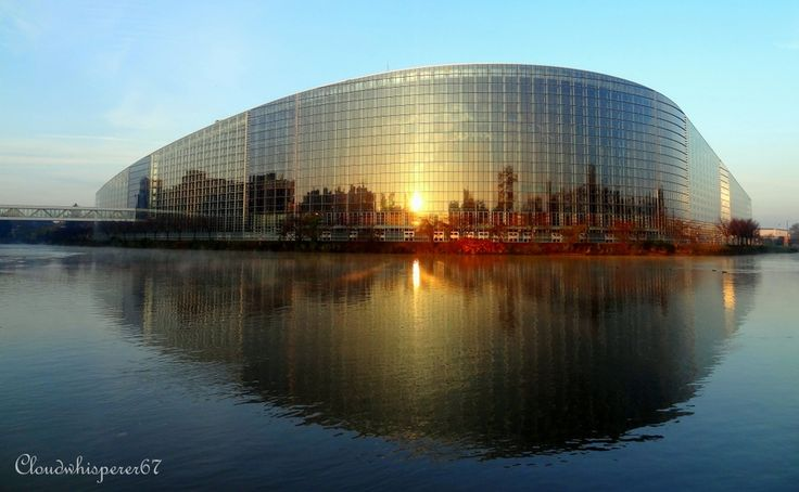 European Parliament by day - Strasbourg, France