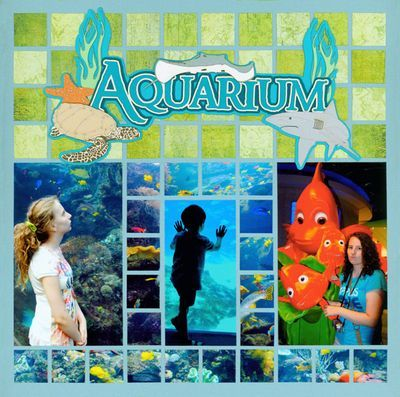 Aquarium  layout: Beaches Scrapbook, Mosaics Scrapbook, Aquarium Scrapbook, Mosaics Moments, Creative Scrapbook, Mosaics Layout, Scrapbook Layout, Scrapbook Aquarium, Aquarium Layout