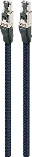 AudioQuest - RJE Vodka 2.5' Ethernet Cable - Black/Blue