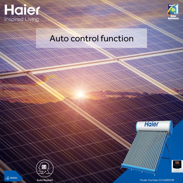 The Smart Auto Start function in #Haier #WaterHeater auto starts the heater after power resumption. #Technology #HaierIndia #Solar #SolarWaterHeater