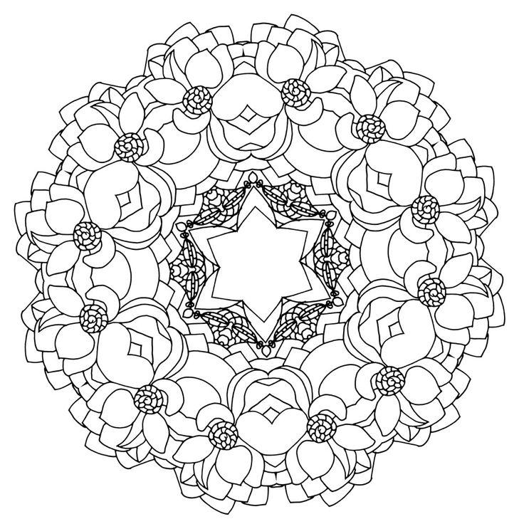 Heal Mandala Coloring book for adults Pattern 8