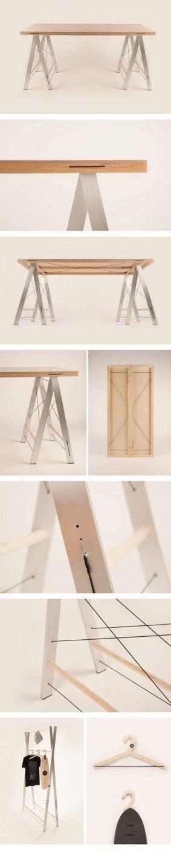 Michal Jakubec, variabilní stŮL, table, furniture, foto: archiv autora #design #czechdesign