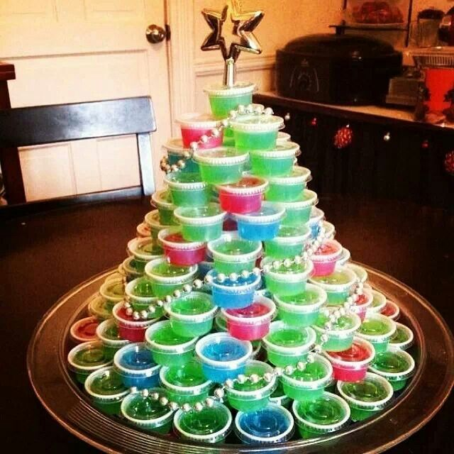 Jello shot Christmas tree
