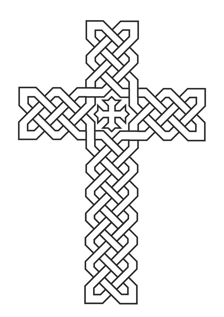 coloring pages cross - photo#35