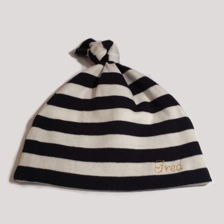 Mützen - Personalisierte Babymütze - 100% Baumwolle (blau) - ein Designerstück von emme-shop bei DaWanda