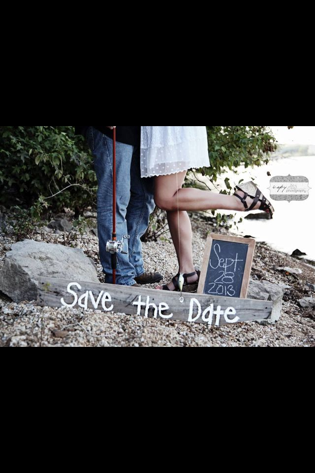 Save the date #engagement #fishing #hooked #ring #married