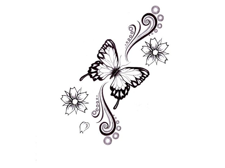 butterfly tattooTattoo Ideas, Tattoo Sketches, Butterfly Tattoo Designs, Flower Tattoo Butterfly, Flower Tattoo Designs, Butterflies Tattoo Design, Flower Tattoos, Butterfly Tattoos, Tatoo