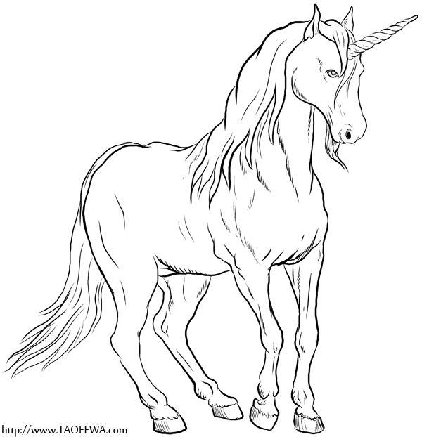 Print Free TAOFEWA Unicorn Coloring