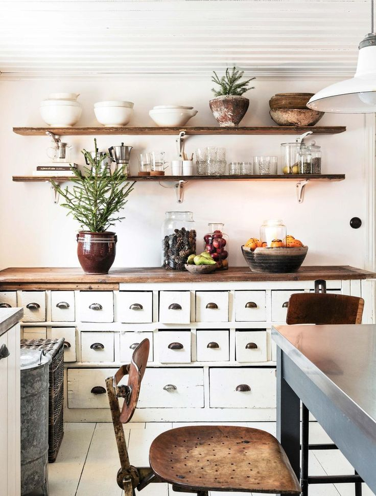 White cupboard with drawers