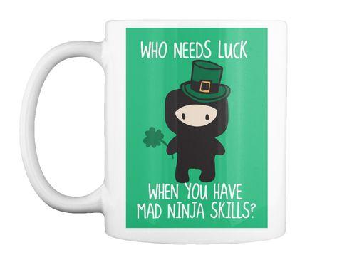 Mad Ninja Skills White T-Shirt Front