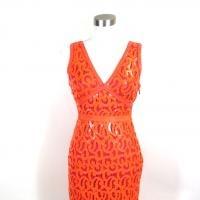 Eyelet lace! BCBG orange sequin dress $79.95
