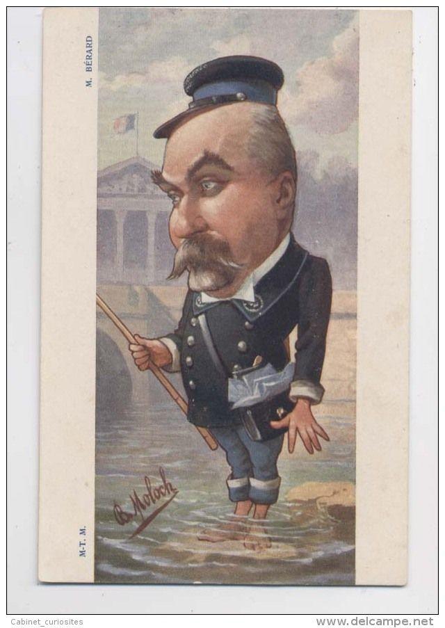 Caricature de Léon Bérard - Avocat - Illustration de Moloch  - Satire - Maire de Sauveterre-de-Béarn